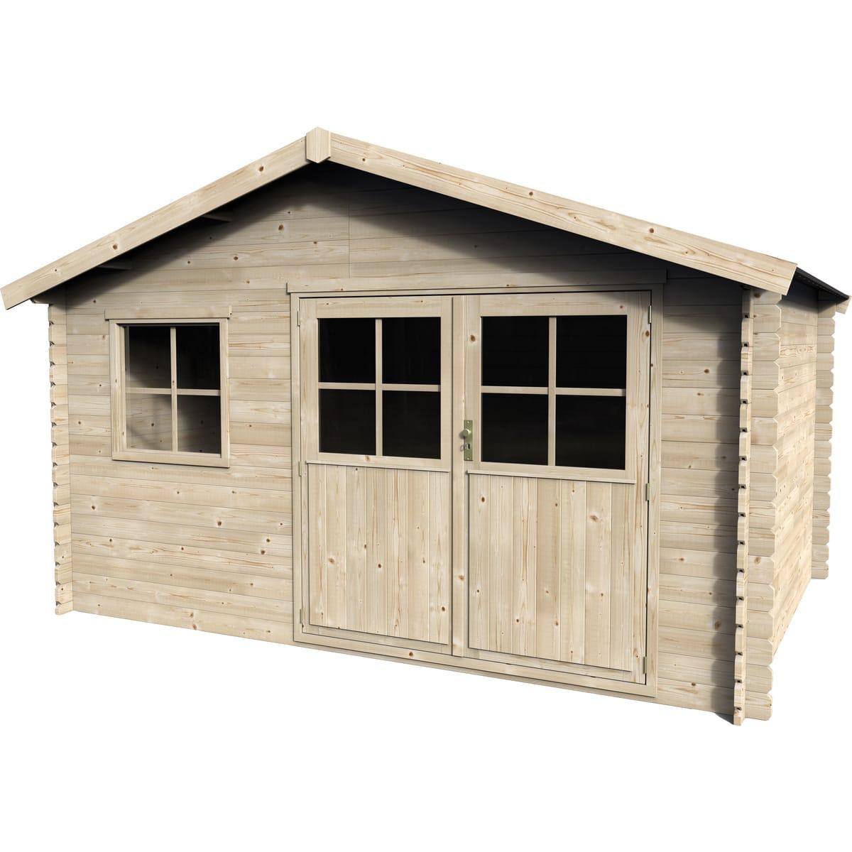 Abri de jardin Fayon en bois (9.36 m2)