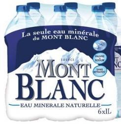 2 packs de 6 bouteilles d'eau minérale Mont Blanc 1.5L (via BDR + Shopmium)
