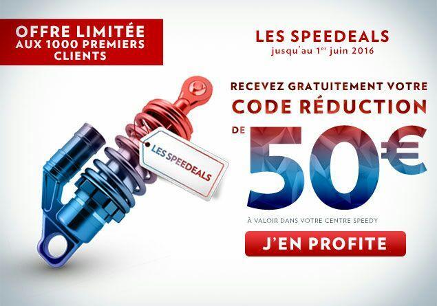 50€ de réduction dès 100€ d'achat valable dans le centre choisi (hors pneu, vitrage et vente à emporter)