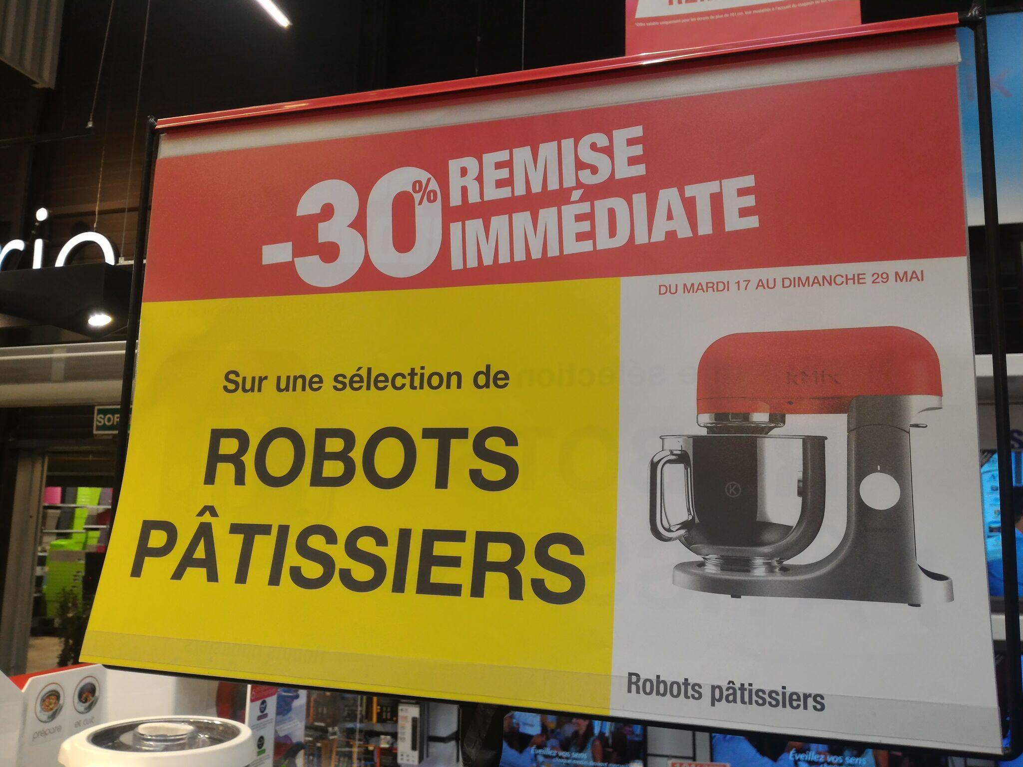 30% de réduction sur une sélection de robots pâtissiers - Ex : Robot Kenwood RMX50RD