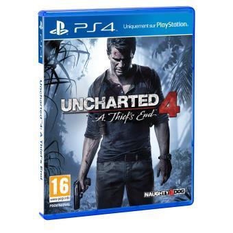 Jeu Uncharted 4 sur PS4 + Funko Pop Drake marron