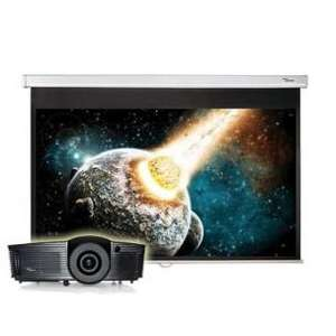 Vidéoprojecteur Optoma HD141X (Full HD, 3D) + écran de projection Optoma DS-9072PWC (16/9, 182cm de diagonale)