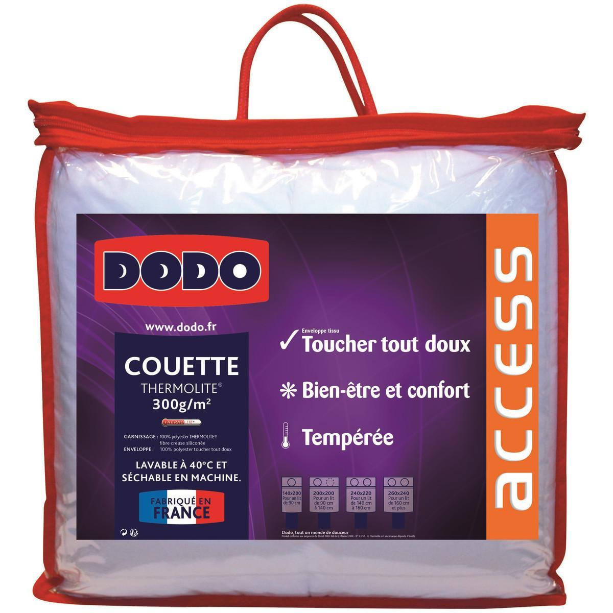 Couette tempérée polyester Dodo Access - 240 x 220 cm
