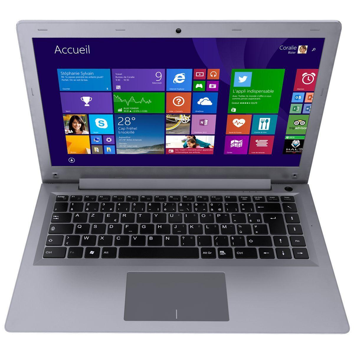 Ultraportable 14'' Thomson Ultra Slim (Intel Core M 5Y10C, 4Go RAM, 128 Go SSD, HD5300)