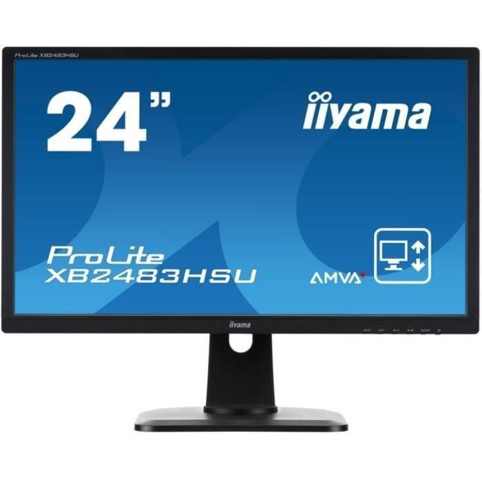 "Ecran PC 24"" Iiyama ProLite XB2483HSU-B2 - Full HD, AMVA+"