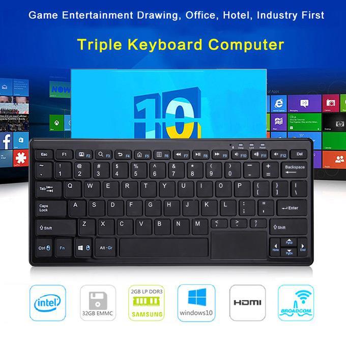 Clavier miniPC K3 Wintel - Intel Z3735F, 2 Go de Ram, 32Go, QWERTY