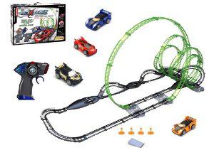 Silverlit - Circuit 3D X-Trek Deluxe Set 12,9m + 2 voitures télécommandées (infrarouge)