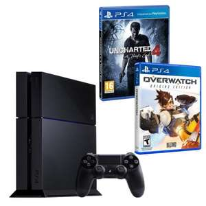 Sélection de packs PS4 en promo - Ex : Pack Console PS4 1 To + Uncharted 4 : A Thief's End + Overwatch