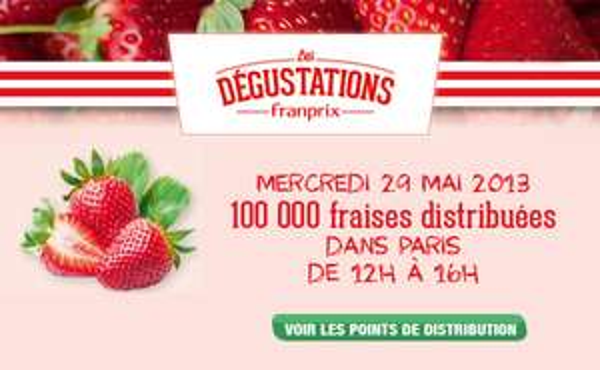 100 000 fraises distribuées