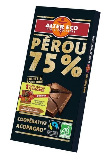 3 tablettes chocolats bio et équitables Alter Eco 100g - différentes variétés (via Shopmium)