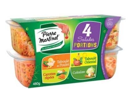 Salade 4 portions de 4 recettes Carottes Ciboulette / Taboulé Oriental / Taboulé au Poulet / Coleslaw (via fidélité 1.20€ + BDR + Shopmium)