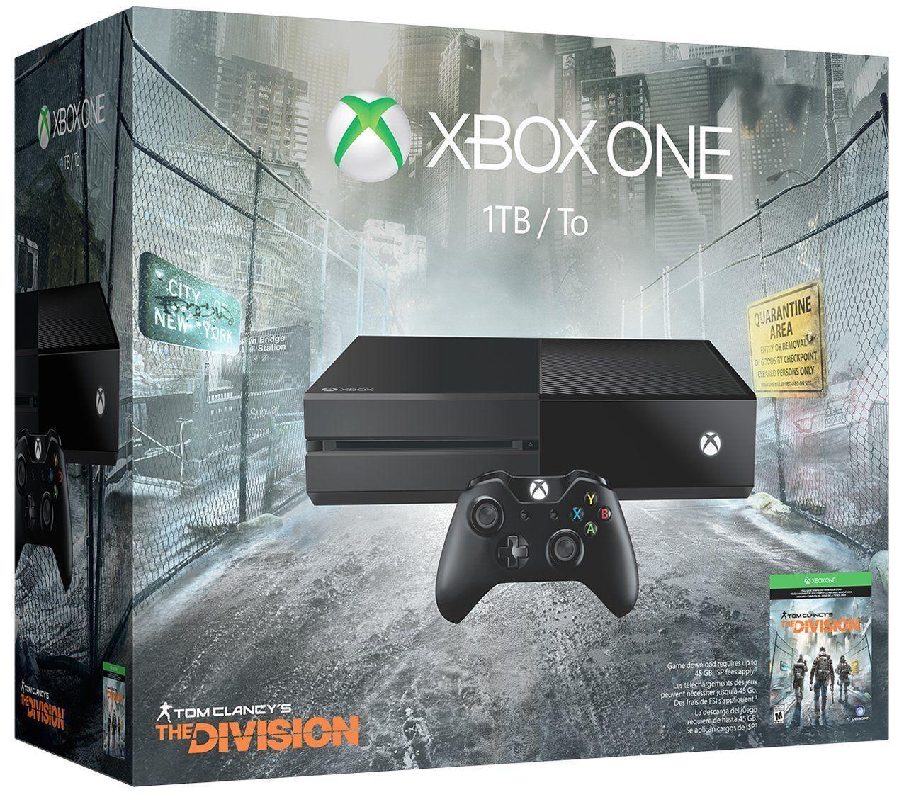 Pack console Microsoft Xbox One (1 To) + Tom Clancy's The Division (dématérialisé) + DOOM - 100% Uncut