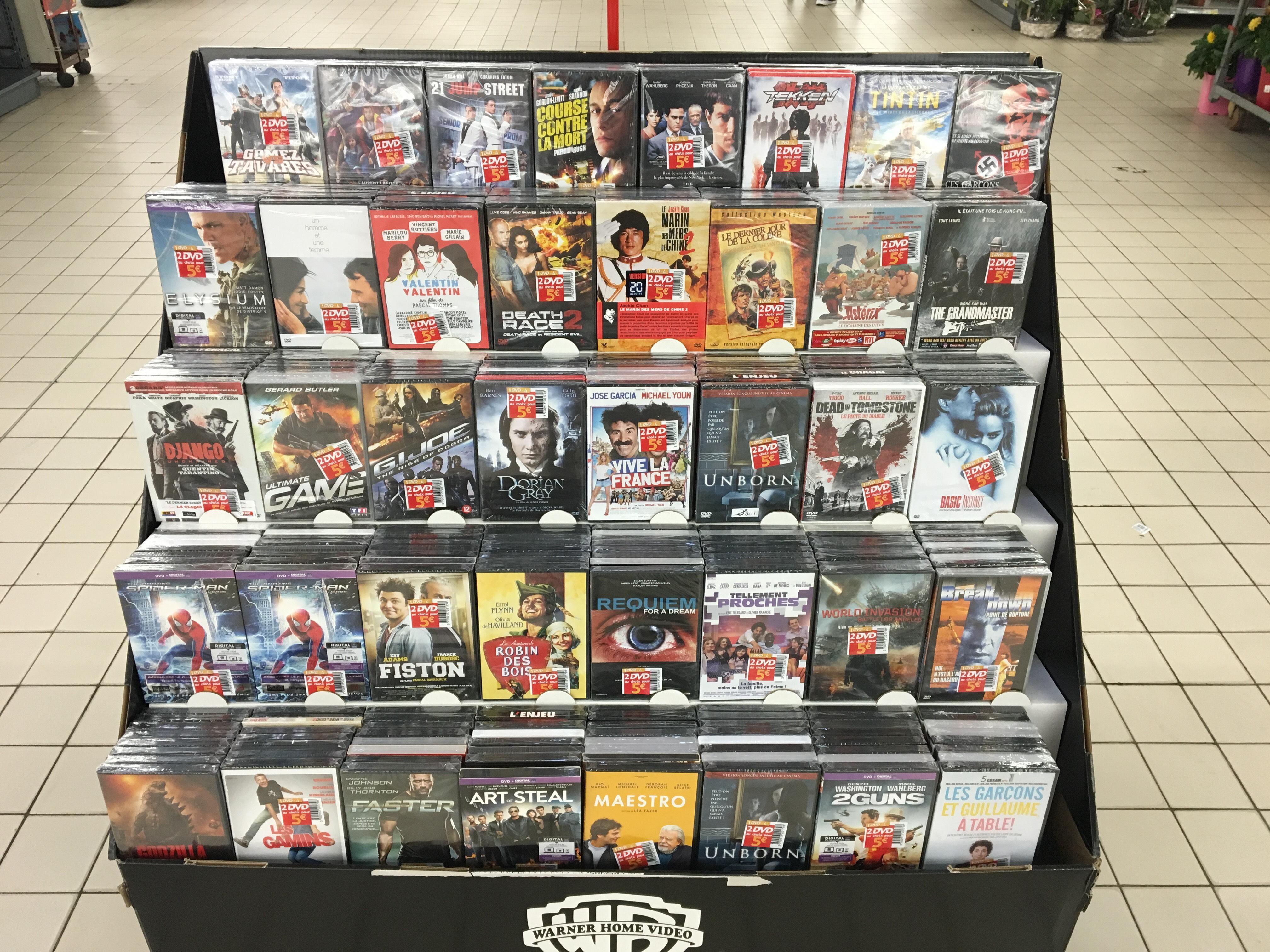 2 DVD au choix parmi une sélection