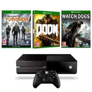 Console Microsoft Xbox One 1To + The Division + Doom + Watch Dogs