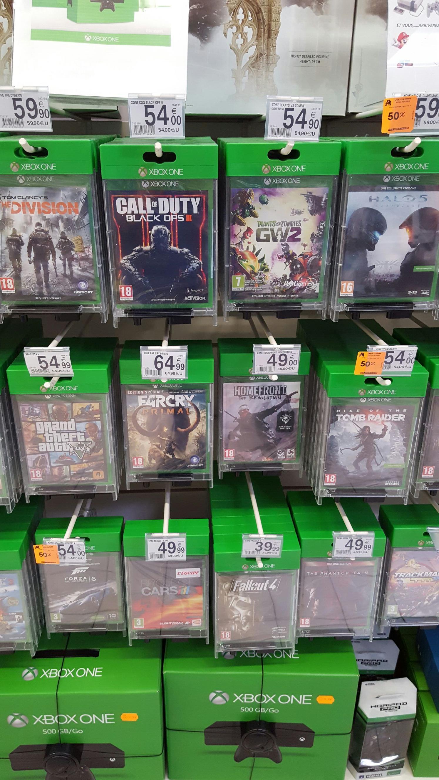 50% de remise immédiate sur une sélection de jeux Xbox One - Ex: Forza Motorsport 6