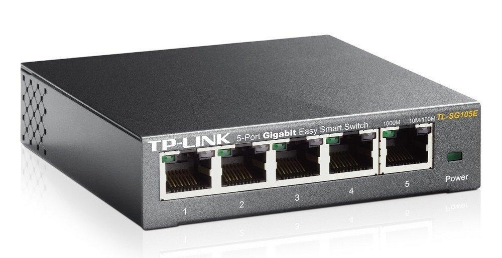 Switch Administrable TP-Link TL-SG105E Easy Smart - 5 Ports Gigabit (Boîtier Métal)