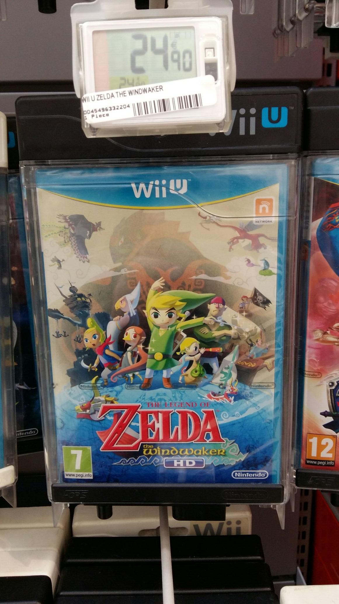 Jeu Zelda Wind waker HD sur Wii U