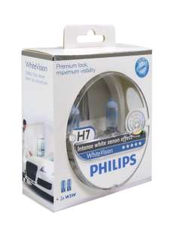 Set de 2 ampoules  Halogène Vision H7 12 V Philips PH H755W + 2 W5W
