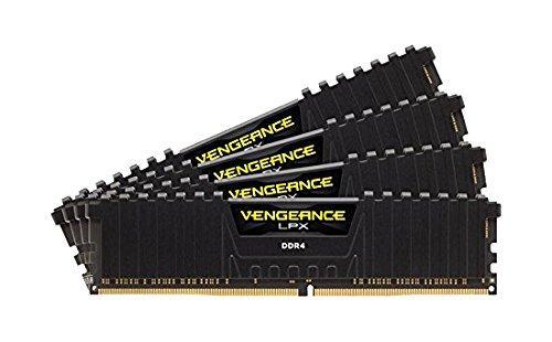 Kit Ram 16 Go DDR4  (4 x 4 Go) Corsair Vengeance LPX, Noir, 2800 MHz, CAS 16