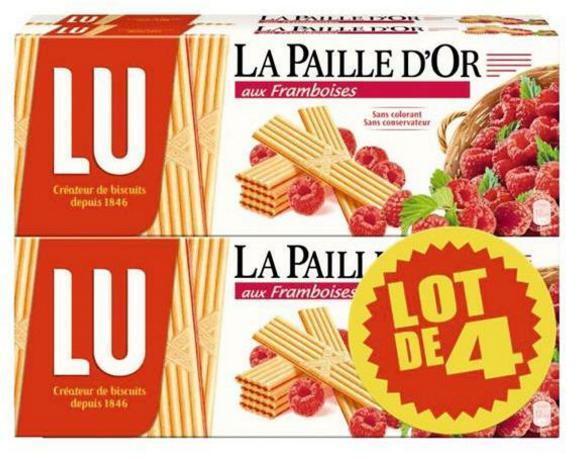 2 Lots de 4 Paquets de Paille d'or de lu - 8x170g (via 5.4€ carte Waaoh)