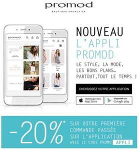 20% de réduction sur 1ere commande via l'application