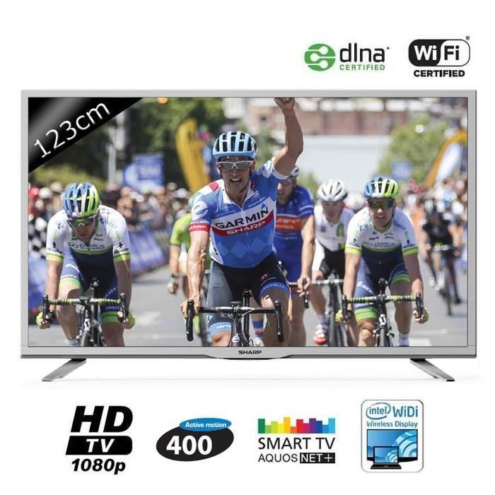 """TV 49"""" Sharp LC-49CFE6141EW - FullHD + 90€ en bon d'achat"""