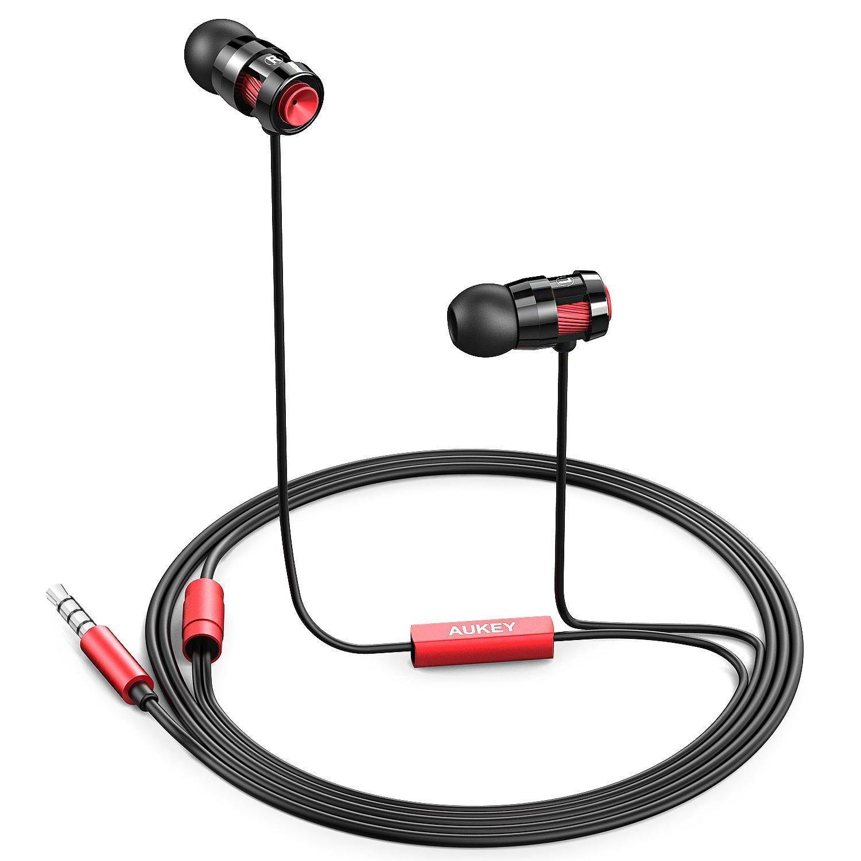 Écouteurs intra-auriculaire Aukey EP-C2 - Rouge ou bronze