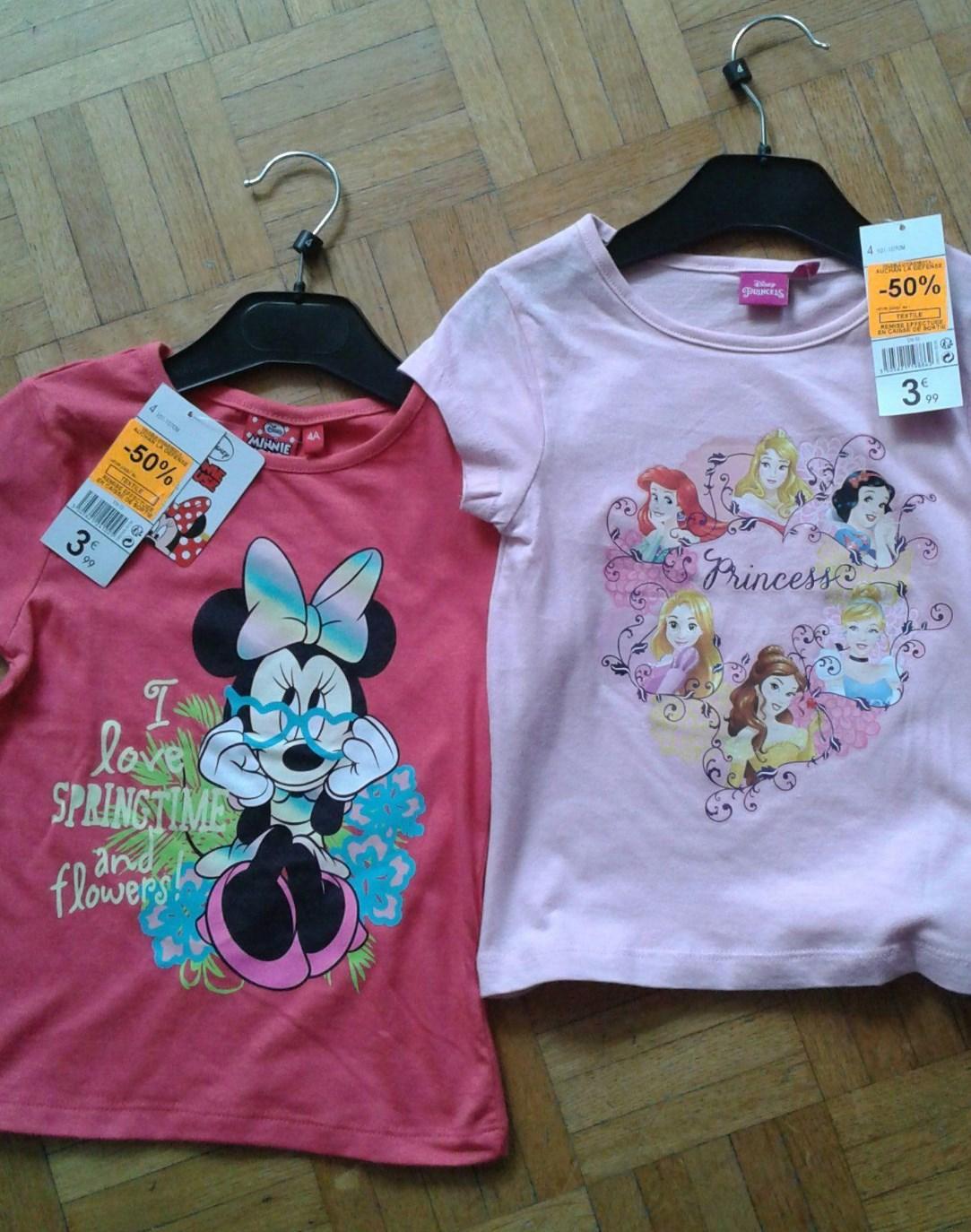 Sélection de T-shirts enfant en promotion - Ex : T-shirt Minie I love Springtime