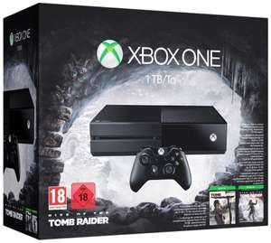 Pack Console Microsoft Xbox One 1 To + Rise of the Tomb Raide + Tomb Raider : Définitive Edition