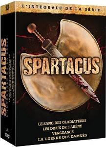 L'intégrale de la série Spartacus en DVD : Le sang des Gladiateurs + Les dieux de l'arène + Vengeance + La guerre des damnés