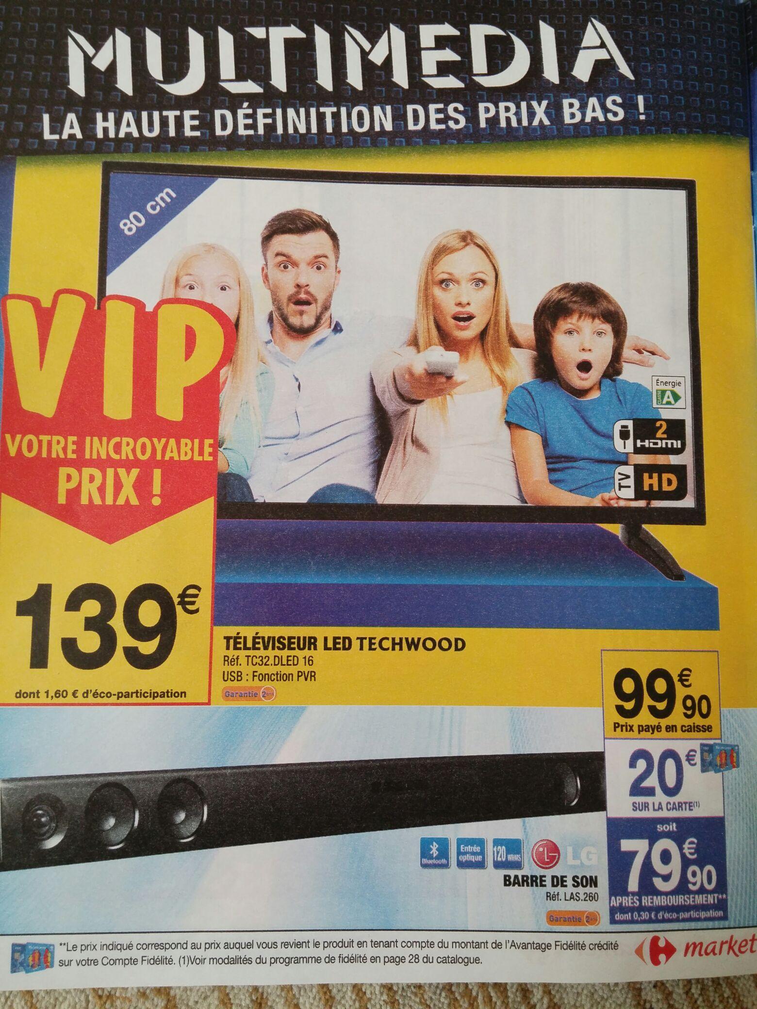 """TV 32"""" Techwood TKF322016B - LED, HD"""