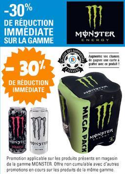 30% de réduction immédiate sur les produits Monster