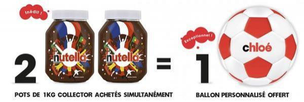2 Pots de Nutella Collectors 1Kg achetés = 1 ballon personnalisé offert
