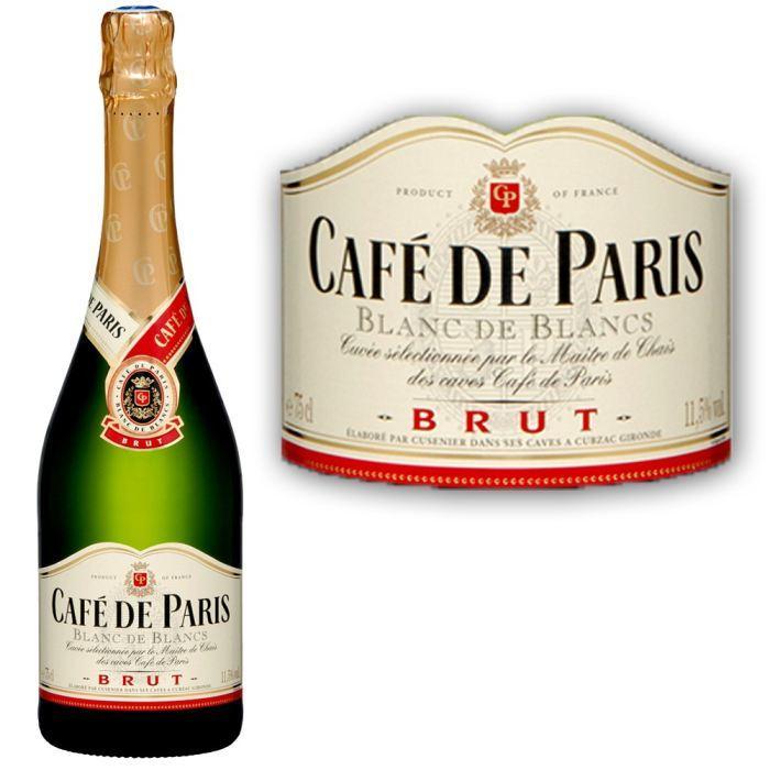 Bouteille 75 cl de Café de Paris brut gratuite (via 19,95€ de cagnotte fidélité)