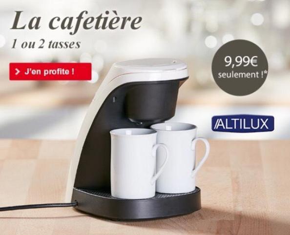 Pour tout achat sur le site, une cafetière Altilux 1/2 Tasses à 9.99€