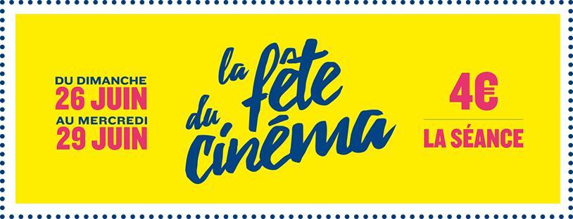 Fête du cinéma du 26 au 29 juin 2016 - La place