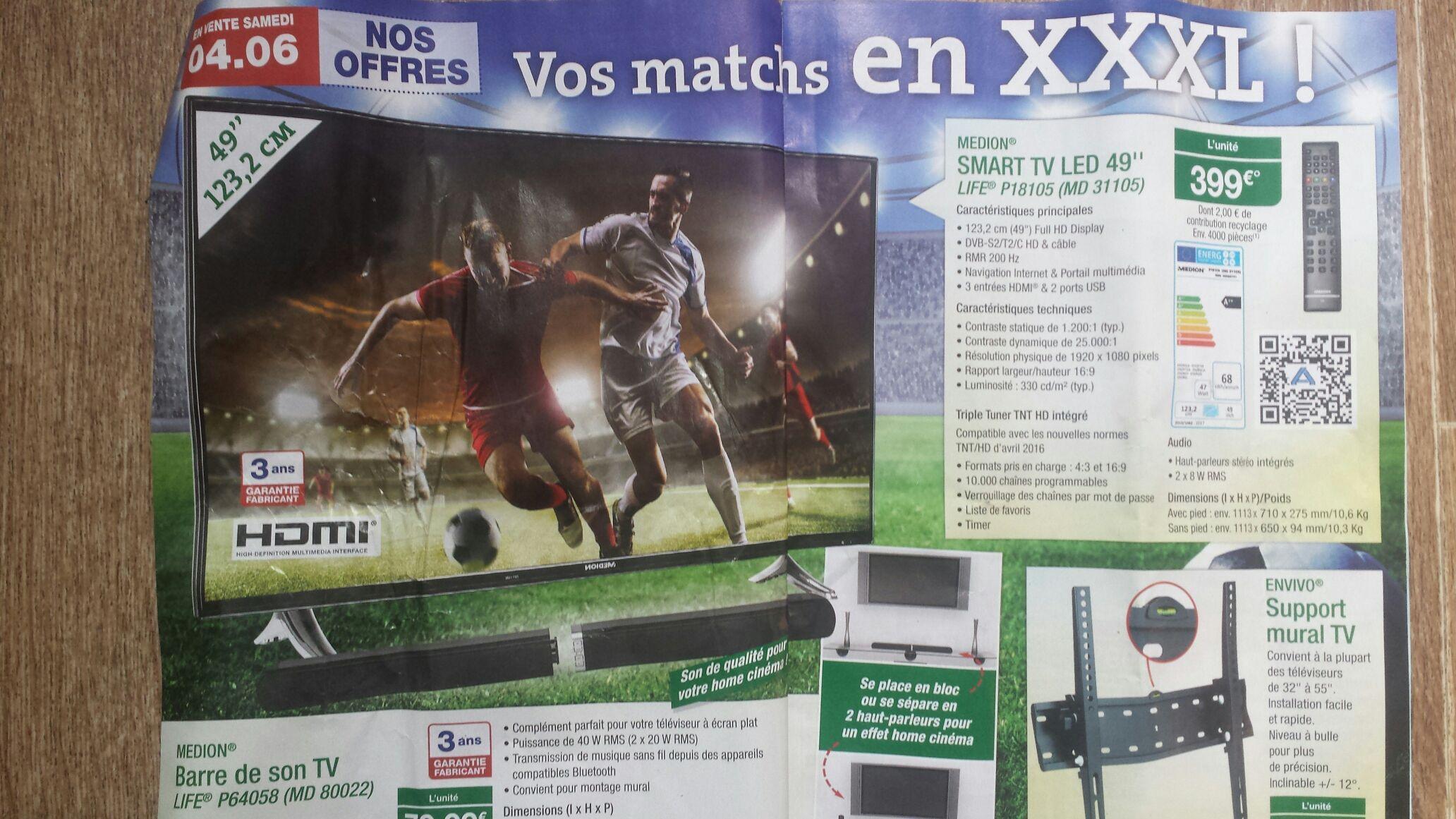 "TV 49"" Medion Life P18105 - full HD, LED, smart TV"