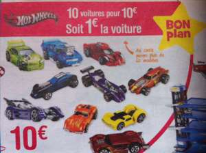 Lot de 10 voitures Hot Wheels (parmi une sélection)