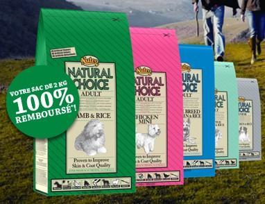 Un sac de croquettes pour chiens de 2KG Natural Choice gratuit (via ODR)