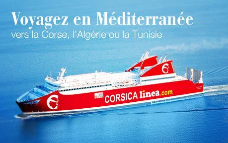 Rosedeal : Bon d'achat Corsical Linea - 300€ pour 100€ (Tunisie et Algérie) ou vers la Corse 100€