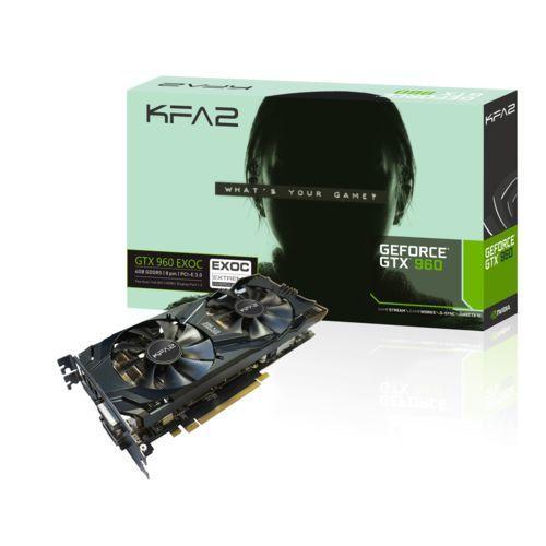 Carte graphique KFA2 GeForce GTX 960 EXOC V2 DDR5 - 4 Go