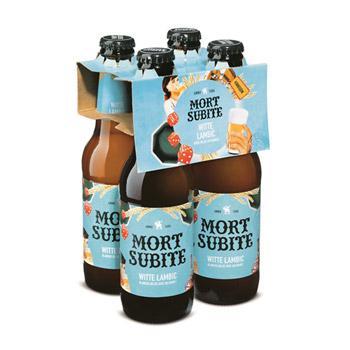 Pack de bières blanches Mort Subite (4x25 cl)