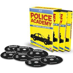 Coffret Blu-ray : Police Academy Complete Collection - 7 Disc Box (Import UK en VO-STFR, sauf le 6)