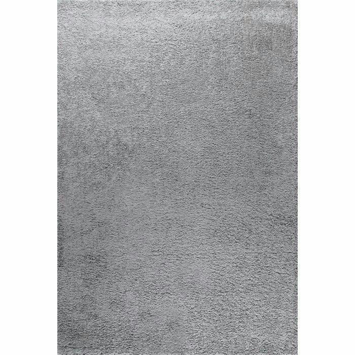 Tapis de salon Shaggy Trendy Gris - 30mm, 160x230 cm