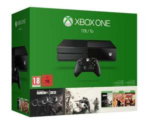 Pack Console Microsoft Xbox One 1To + Rainbow Six Siege + Rainbow Six Vegas 1 & 2