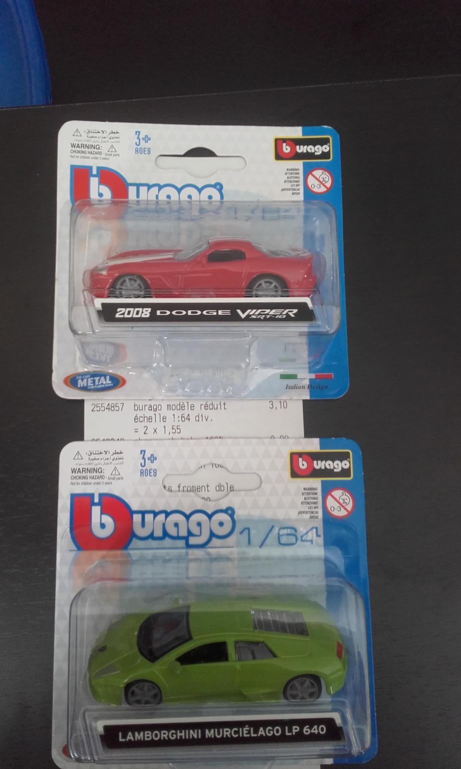 Jouet petite voiture Burago - différents modèles
