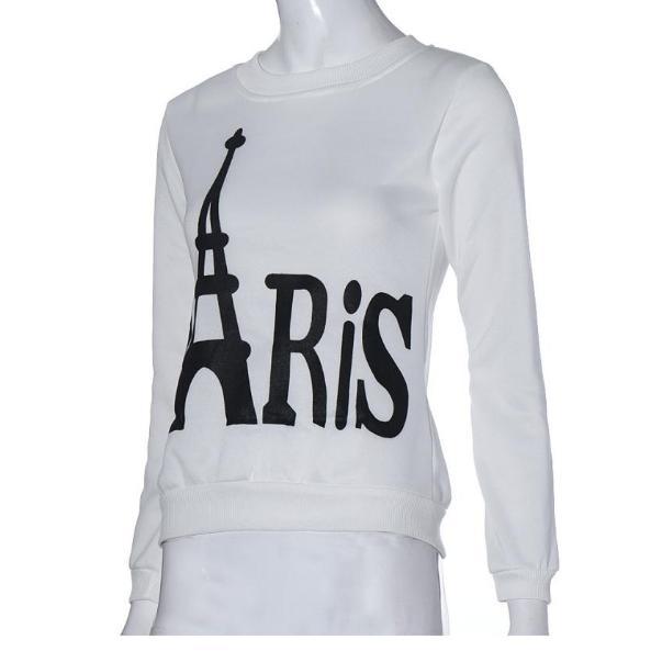 Sweat-shirt Femme Paris - blanc