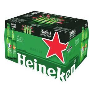 Pack de 24 bières Heineken 25cl (avec 6.43€ sur la carte de fidélité)