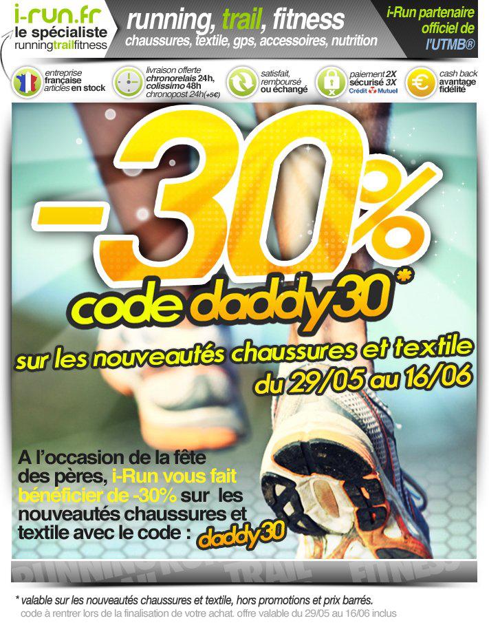 - 30 % chaussures et textiles