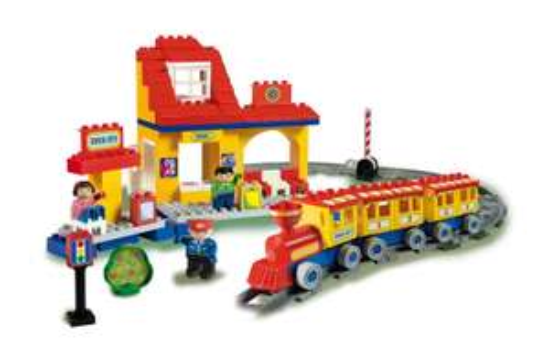 Jeu de construction circuit de train Unico City